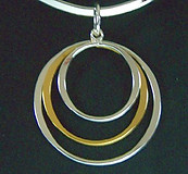 Silver and Gold Ring Pendant
