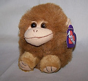 Amber Tan Monkey Puffkin W/Purple Tag