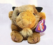 Biff Buffalo Puffkin W/Purple Tag