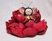 Bee in a Red Bud