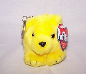 Buttercup Yellow Bear Keychain