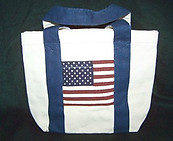 Americana Canvas Tote Bag