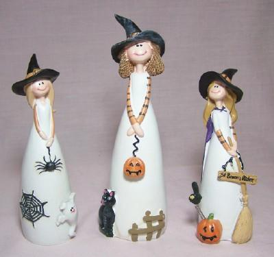 3 Pc. Witch Figurine Set
