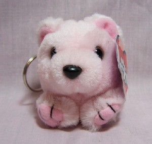 Blush Bear Keychain