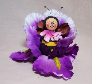 Bee in a Purple Bud