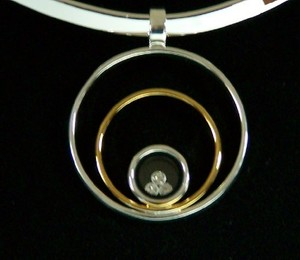 Three Circle Rhinestone Pendant