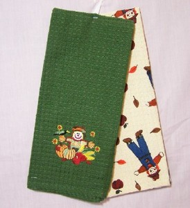 Scarecrow Waffleweave Kitchen Towels