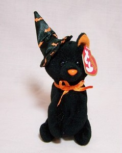 Scurry Black Cat Halloweenie Beanie